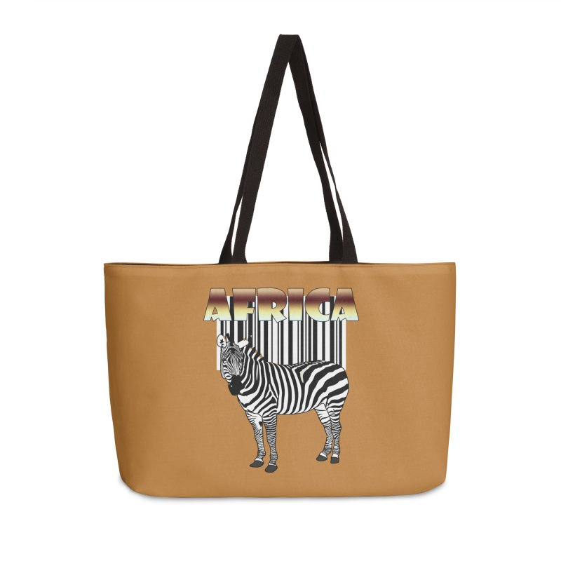 Afrika Zebra barcode Accessories Weekender Bag Bag by NadineMay Artist Shop