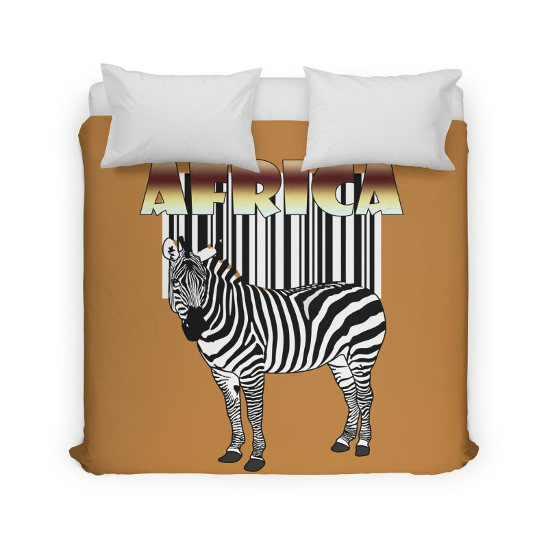 Afrika Zebra barcode Home Duvet by NadineMay Artist Shop