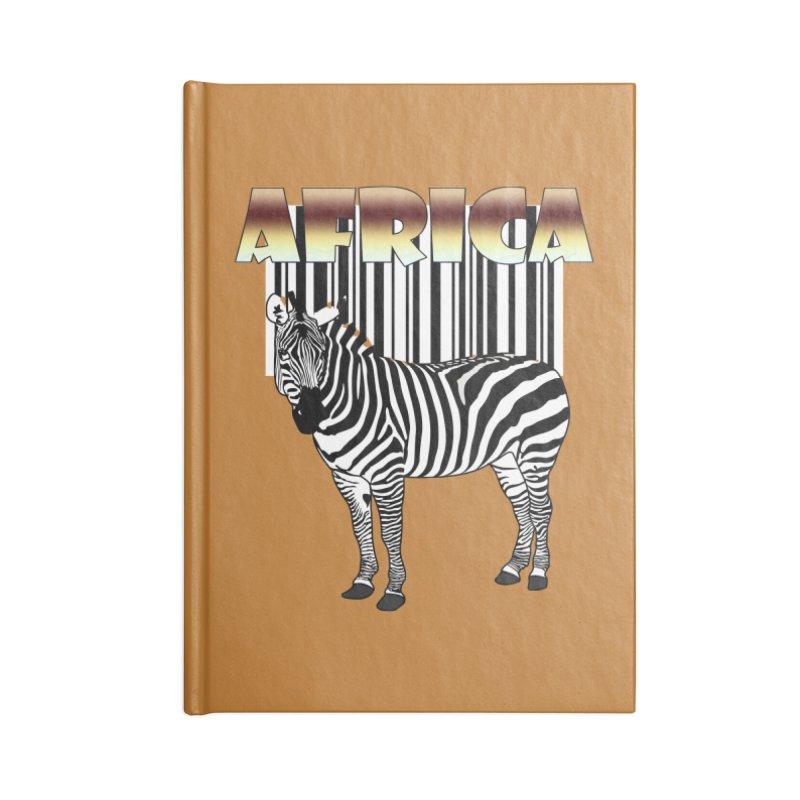 Afrika Zebra barcode Accessories Notebook by NadineMay Artist Shop