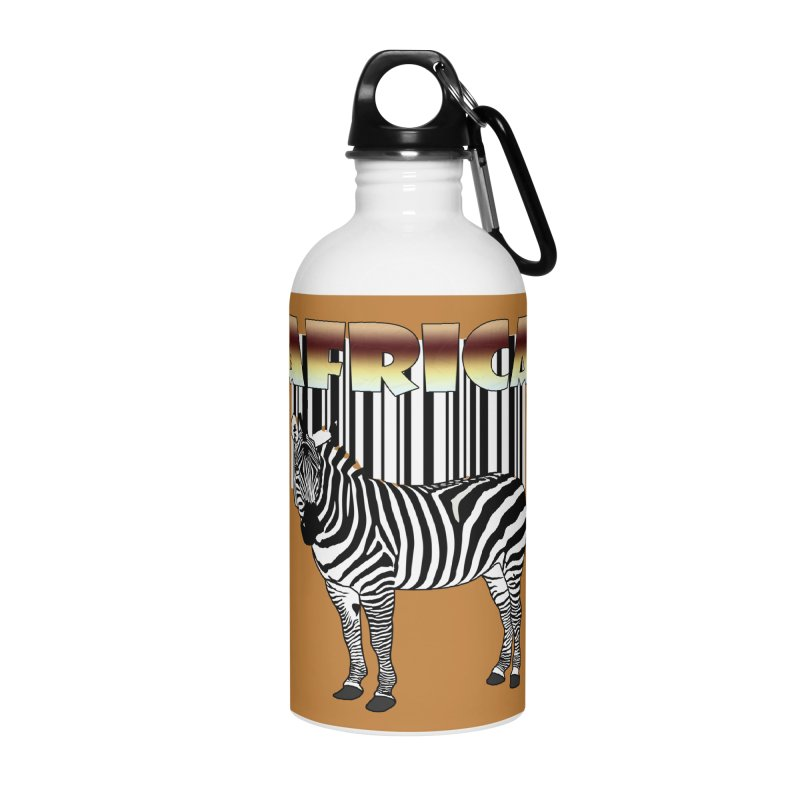 Afrika Zebra barcode Accessories Water Bottle by NadineMay Artist Shop