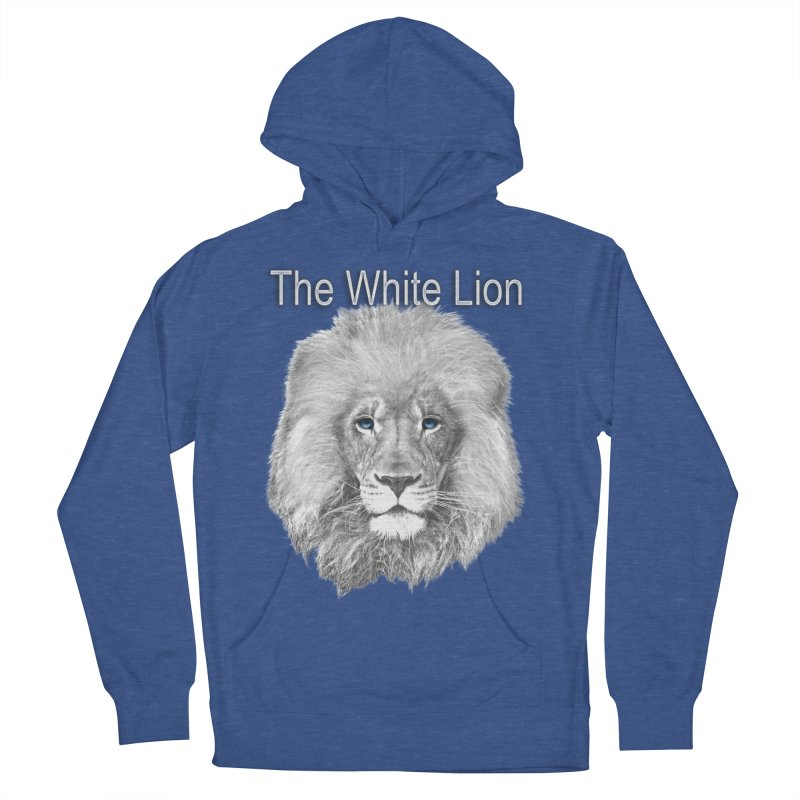 The White Lion Women's French Terry Pullover Hoody by NadineMay Artist Shop