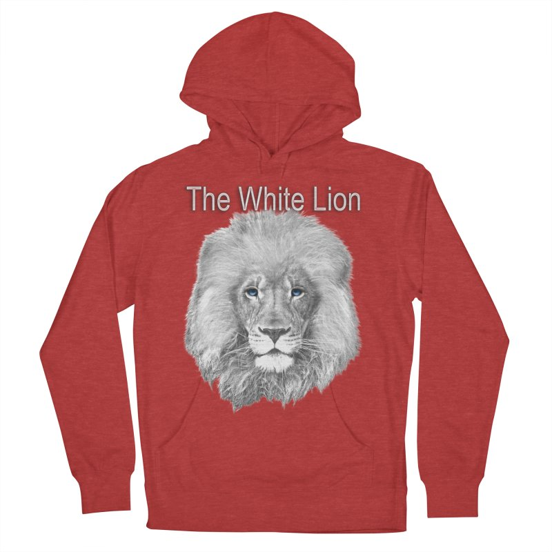 The White Lion Men's French Terry Pullover Hoody by NadineMay Artist Shop