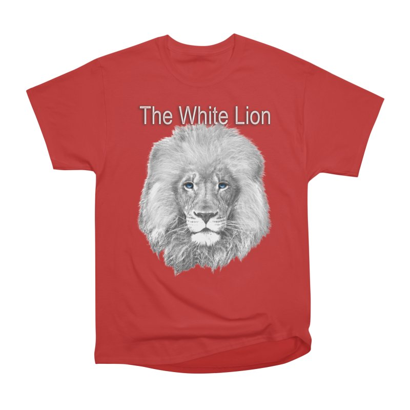 The White Lion Women's Heavyweight Unisex T-Shirt by NadineMay Artist Shop