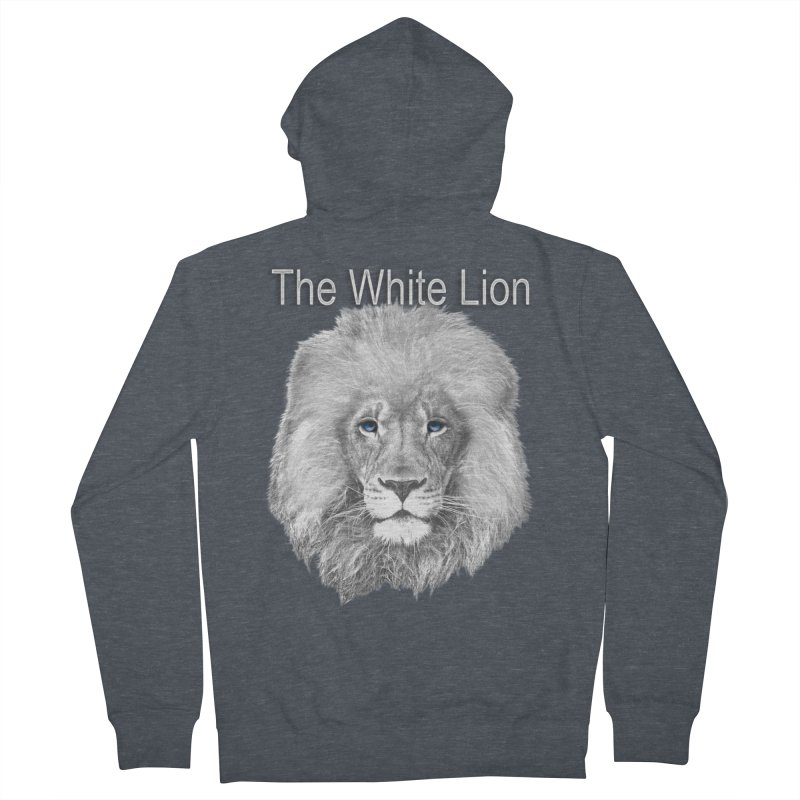 The White Lion Women's Zip-Up Hoody by NadineMay Artist Shop