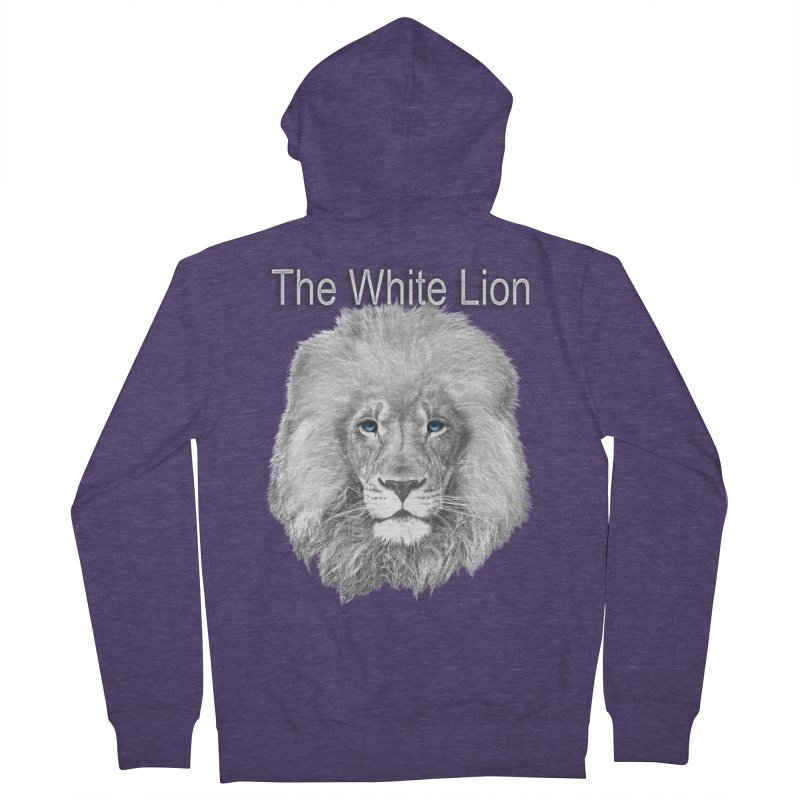 The White Lion Men's Zip-Up Hoody by NadineMay Artist Shop