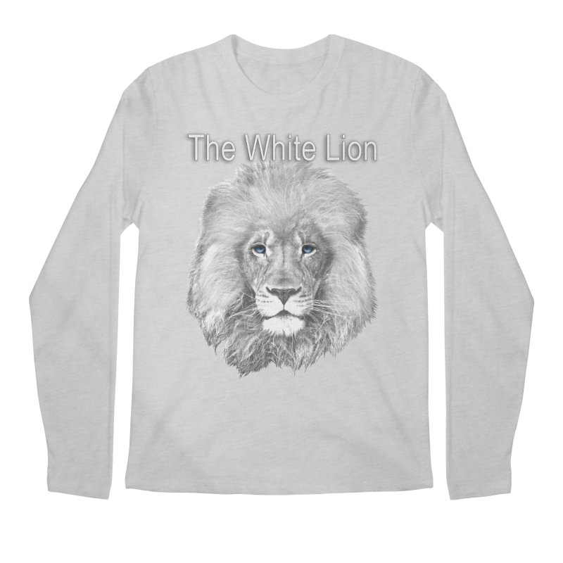 The White Lion Men's Regular Longsleeve T-Shirt by NadineMay Artist Shop