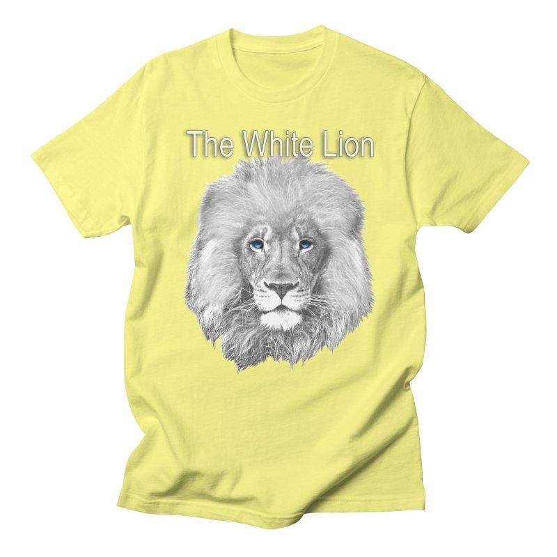 The White Lion Men's Regular T-Shirt by NadineMay Artist Shop