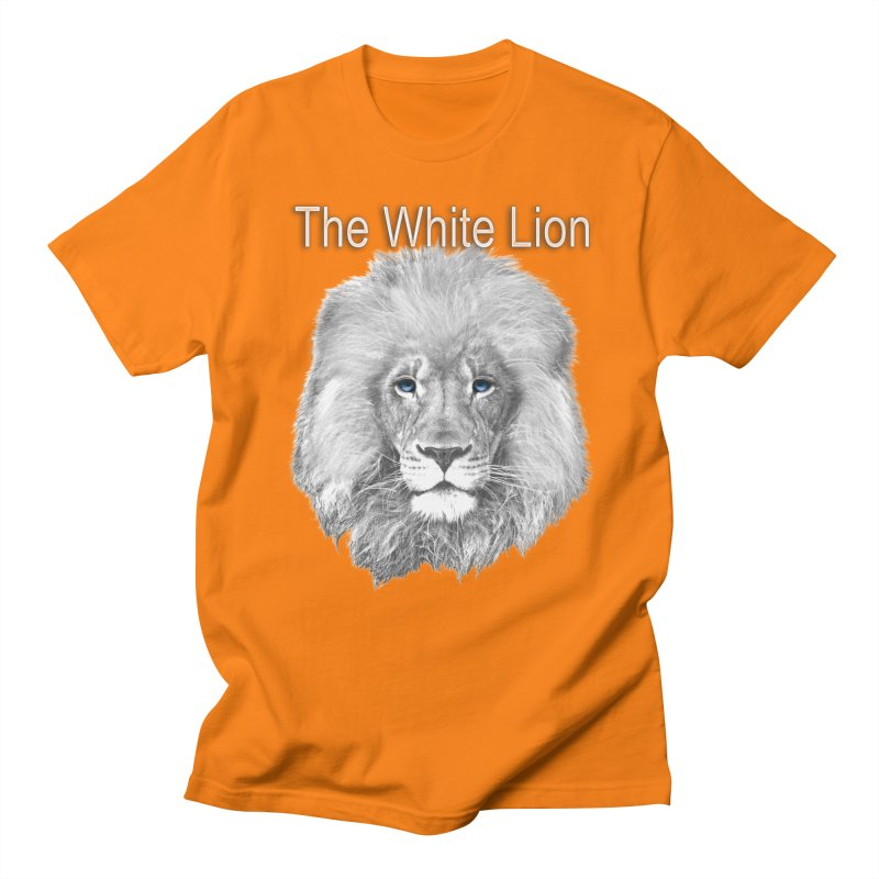The White Lion Men's Regular T-Shirt by NadineMay Artist Shop