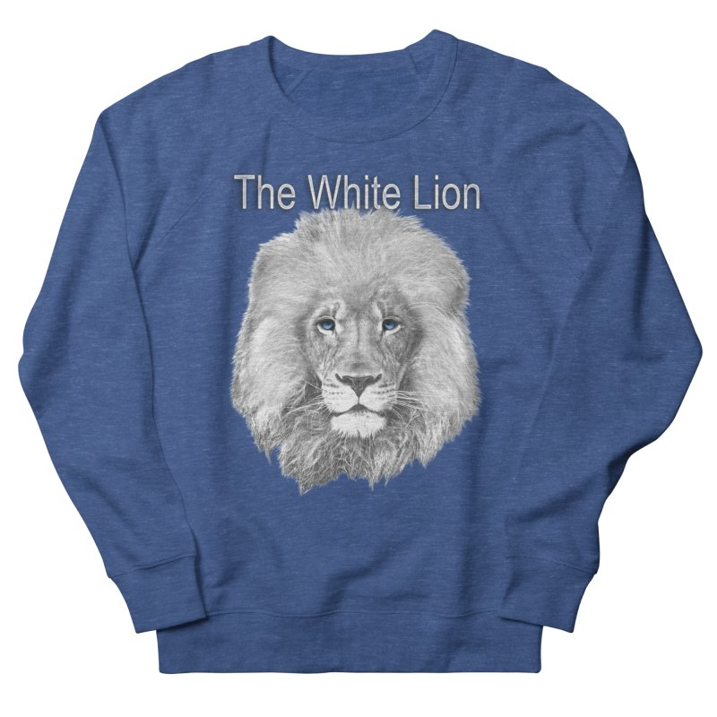 The White Lion Women's French Terry Sweatshirt by NadineMay Artist Shop