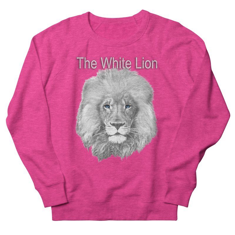 The White Lion Men's French Terry Sweatshirt by NadineMay Artist Shop