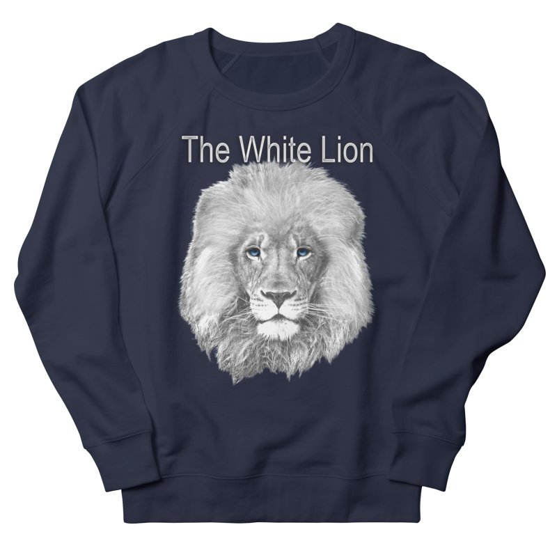 The White Lion Men's Sweatshirt by NadineMay Artist Shop