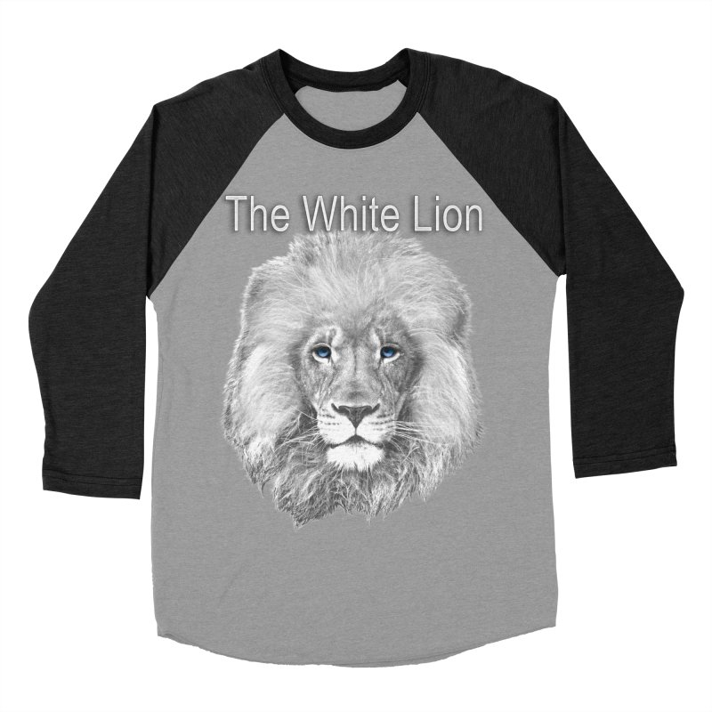 The White Lion Women's Baseball Triblend T-Shirt by NadineMay Artist Shop
