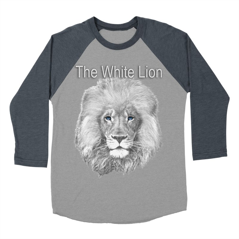 The White Lion Men's Baseball Triblend T-Shirt by NadineMay Artist Shop