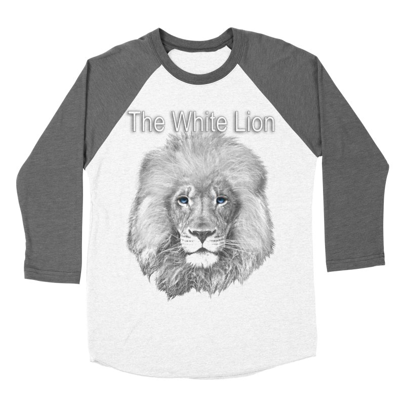 The White Lion Men's Baseball Triblend Longsleeve T-Shirt by NadineMay Artist Shop