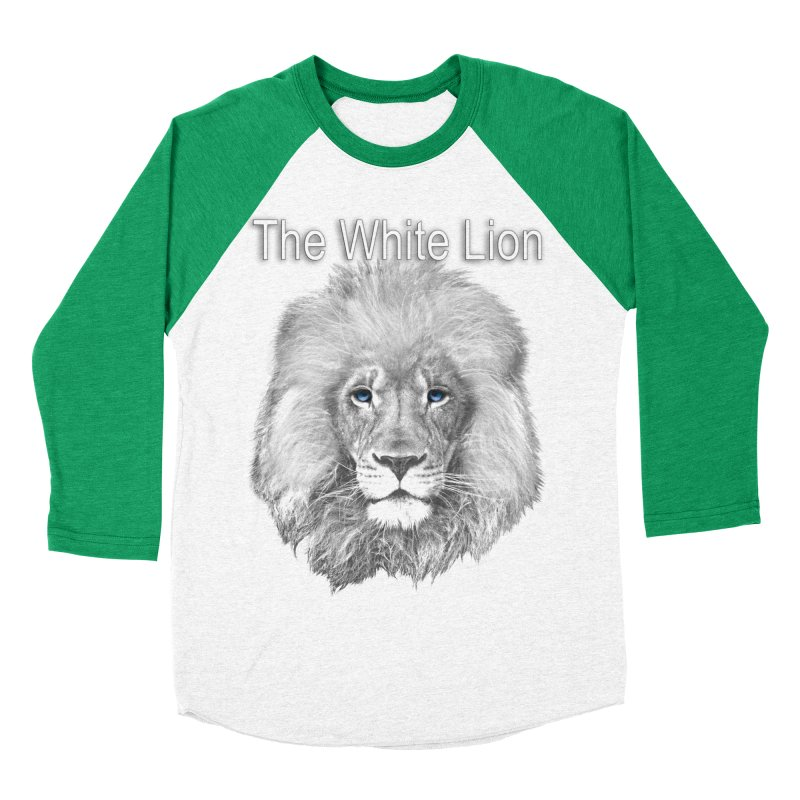 The White Lion Men's Baseball Triblend Longsleeve T-Shirt by NadineMay Artist Shop