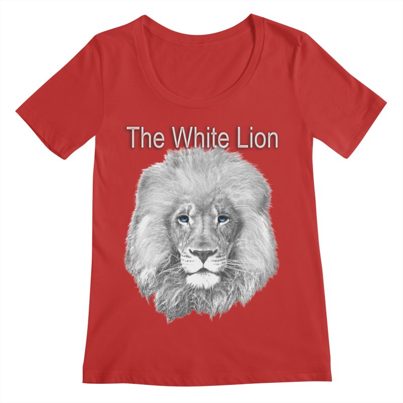 The White Lion Women's Regular Scoop Neck by NadineMay Artist Shop