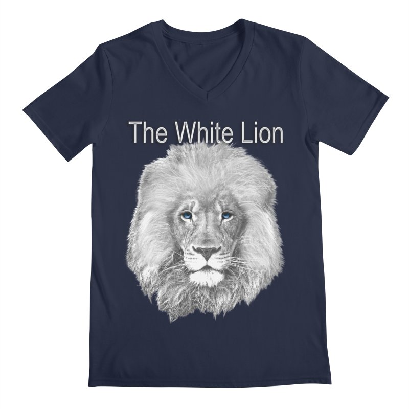 The White Lion Men's V-Neck by NadineMay Artist Shop