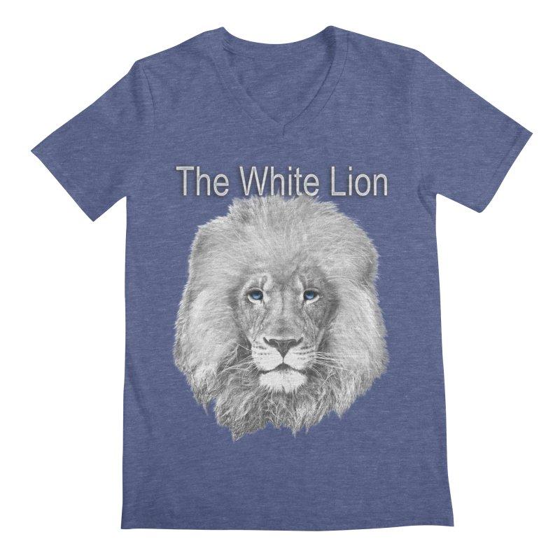 The White Lion Men's Regular V-Neck by NadineMay Artist Shop