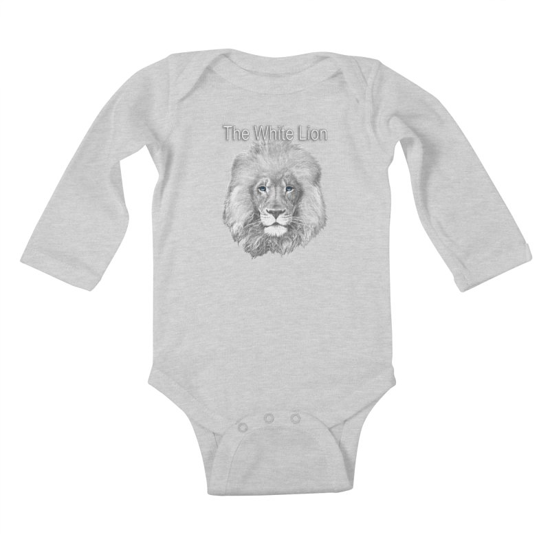 The White Lion Kids Baby Longsleeve Bodysuit by NadineMay Artist Shop