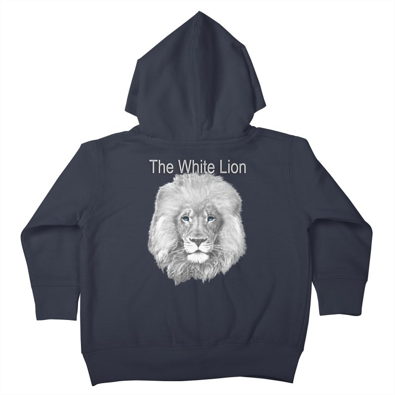 The White Lion Kids Toddler Zip-Up Hoody by NadineMay Artist Shop