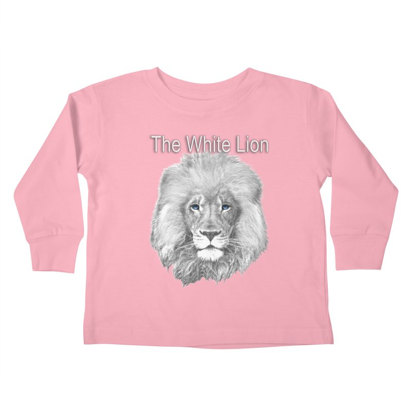 The White Lion Kids Toddler Longsleeve T-Shirt by NadineMay Artist Shop