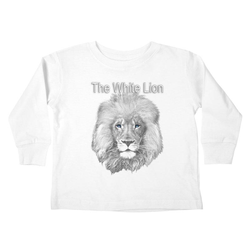 The White Lion Kids Toddler Longsleeve T-Shirt by NadineMay Artist Shop