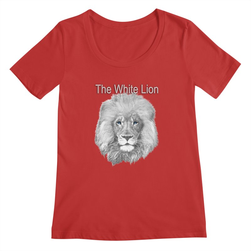 The White Lion Women's Regular Scoop Neck by NadineMay Artist Shop