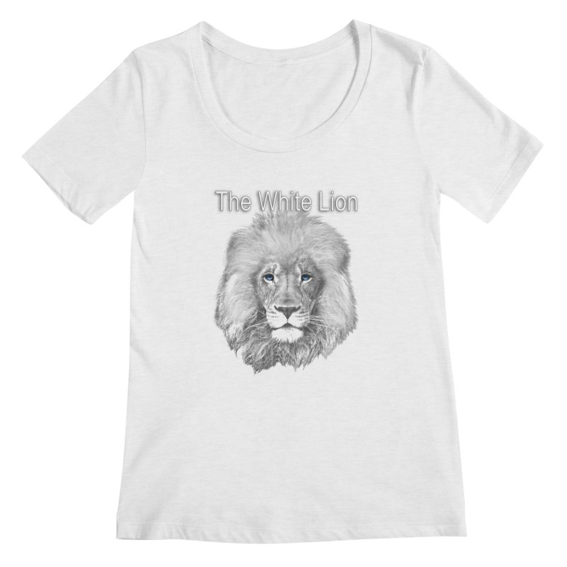 The White Lion Women's Scoopneck by NadineMay Artist Shop