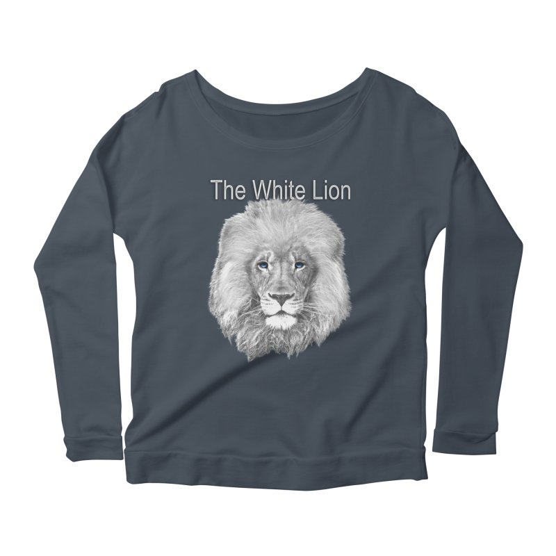 The White Lion Women's Scoop Neck Longsleeve T-Shirt by NadineMay Artist Shop