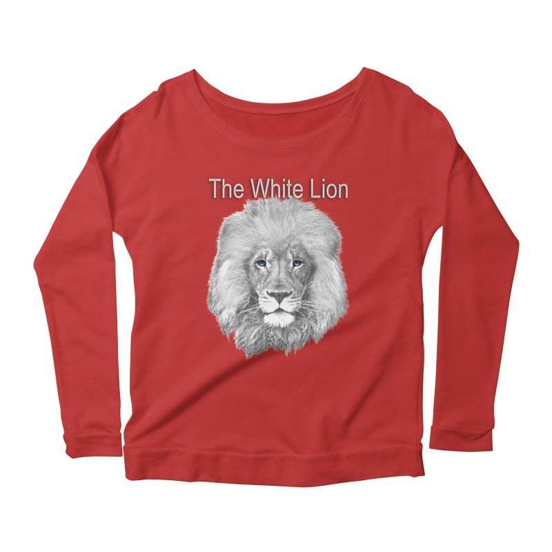 The White Lion Women's Longsleeve Scoopneck  by NadineMay Artist Shop