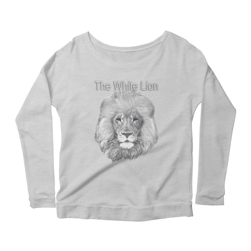 The White Lion Women's Longsleeve Scoopneck  by NadineMay Artist Shop