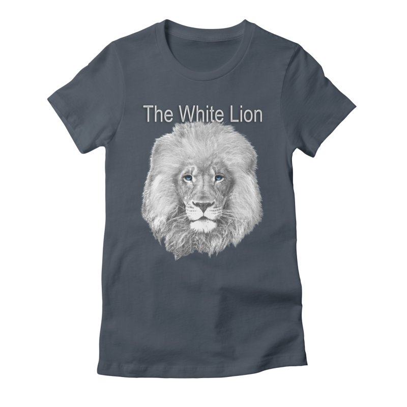The White Lion Women's Fitted T-Shirt by NadineMay Artist Shop
