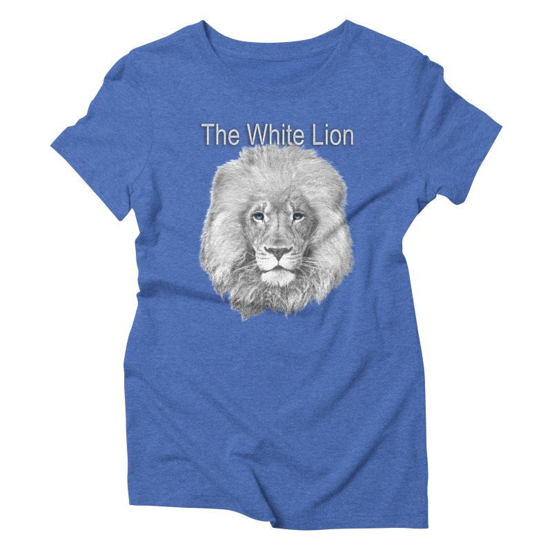 The White Lion Women's Triblend T-Shirt by NadineMay Artist Shop