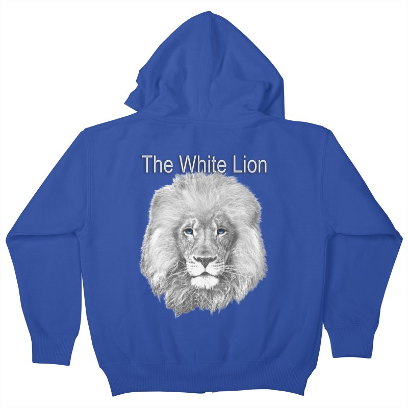 The White Lion Kids Zip-Up Hoody by NadineMay Artist Shop