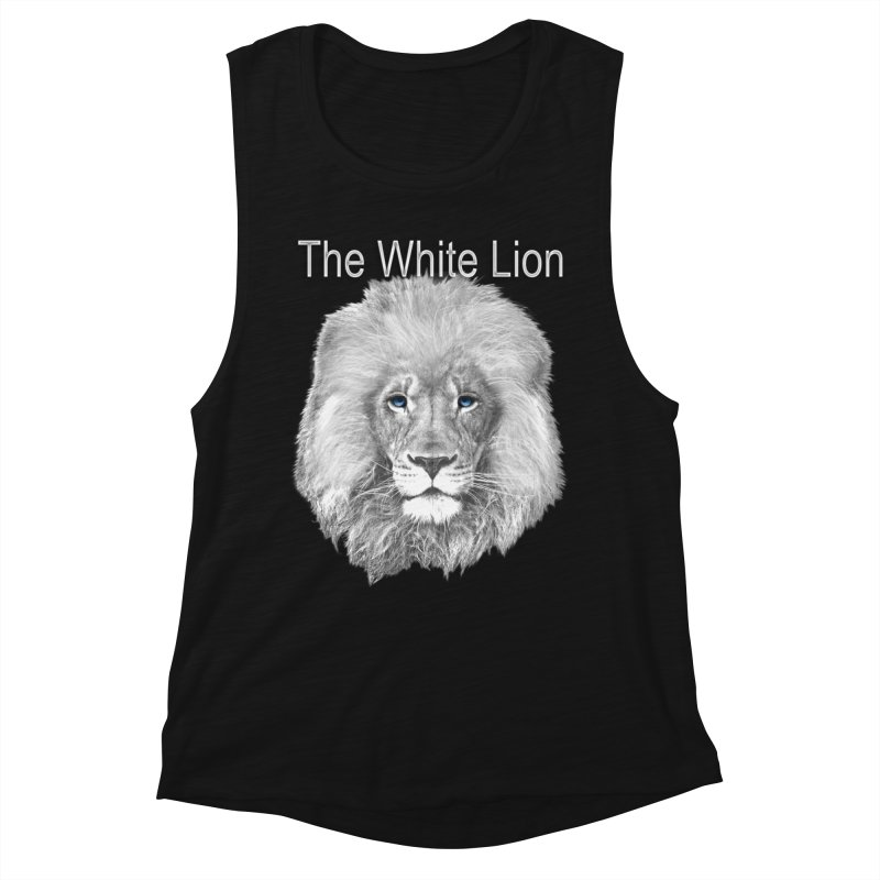 The White Lion Women's Muscle Tank by NadineMay Artist Shop