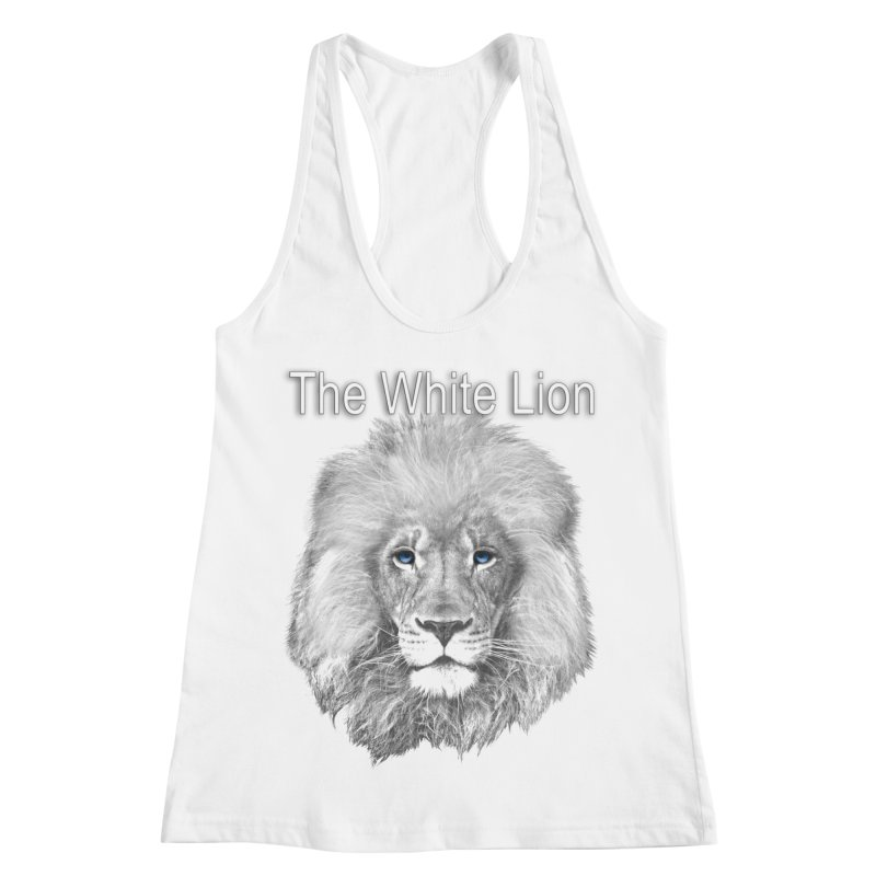 The White Lion Women's Racerback Tank by NadineMay Artist Shop