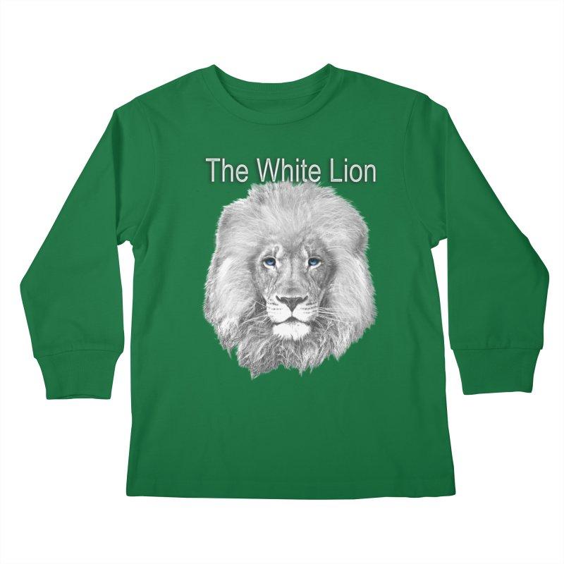 The White Lion Kids Longsleeve T-Shirt by NadineMay Artist Shop