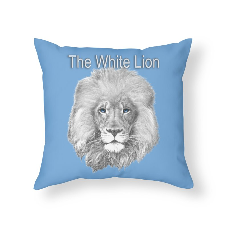 The White Lion Home Throw Pillow by NadineMay Artist Shop