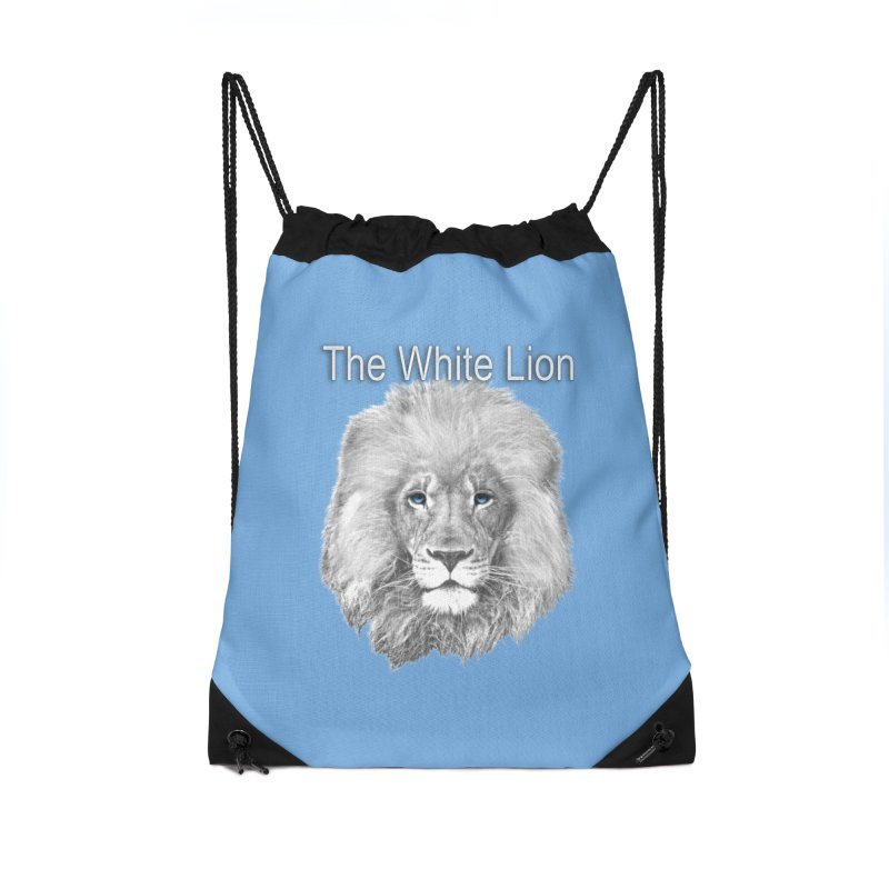The White Lion Accessories Drawstring Bag Bag by NadineMay Artist Shop