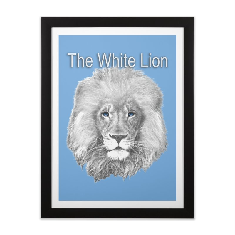The White Lion Home Framed Fine Art Print by NadineMay Artist Shop