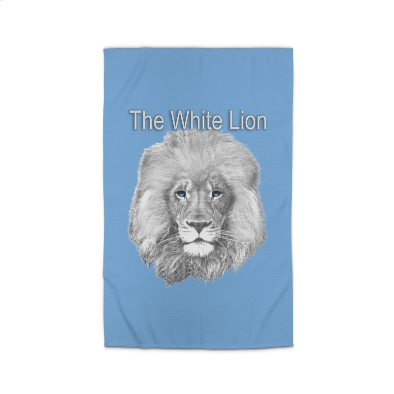 The White Lion Home Rug by NadineMay Artist Shop