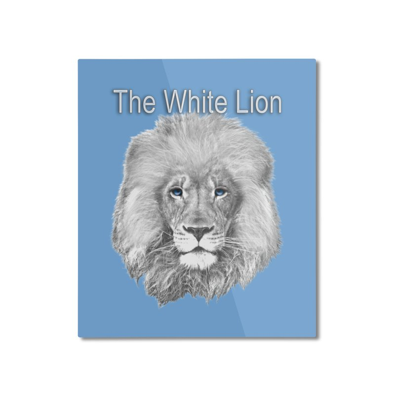 The White Lion Home Mounted Aluminum Print by NadineMay Artist Shop