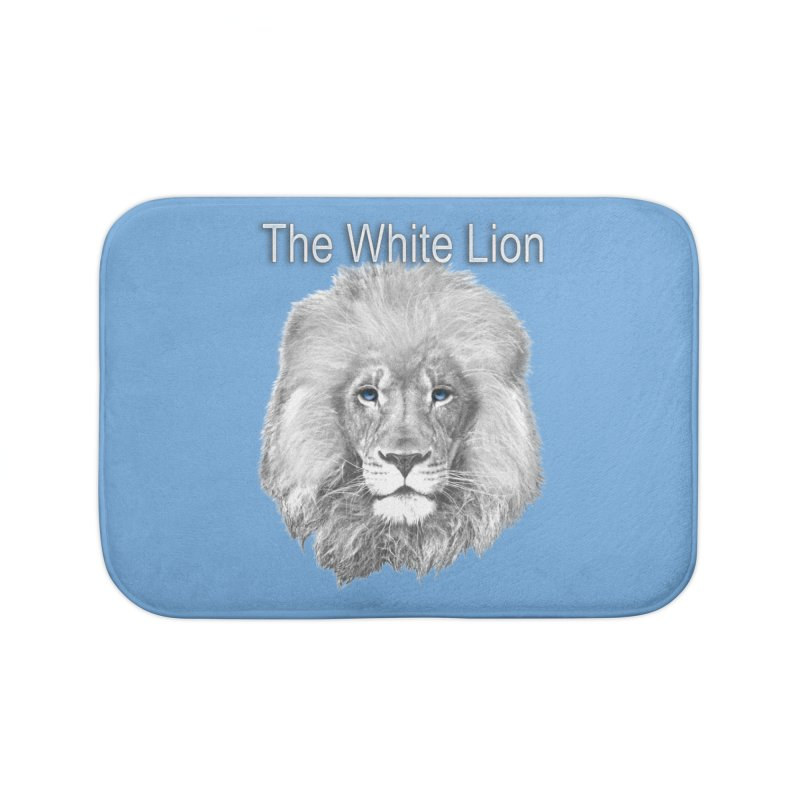 The White Lion Home Bath Mat by NadineMay Artist Shop
