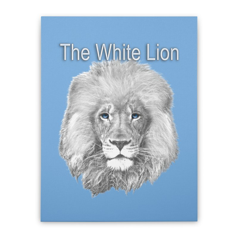 The White Lion Home Stretched Canvas by NadineMay Artist Shop