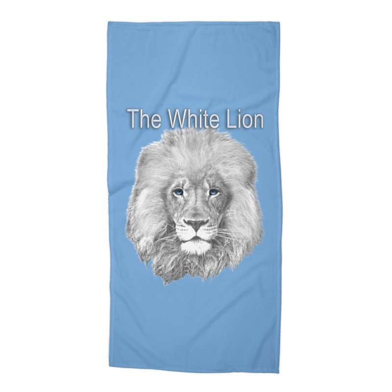 The White Lion Accessories Beach Towel by NadineMay Artist Shop