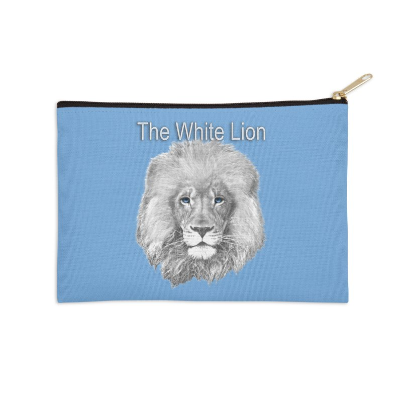 The White Lion Accessories Zip Pouch by NadineMay Artist Shop