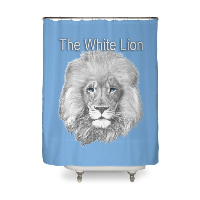 The White Lion Home Shower Curtain by NadineMay Artist Shop