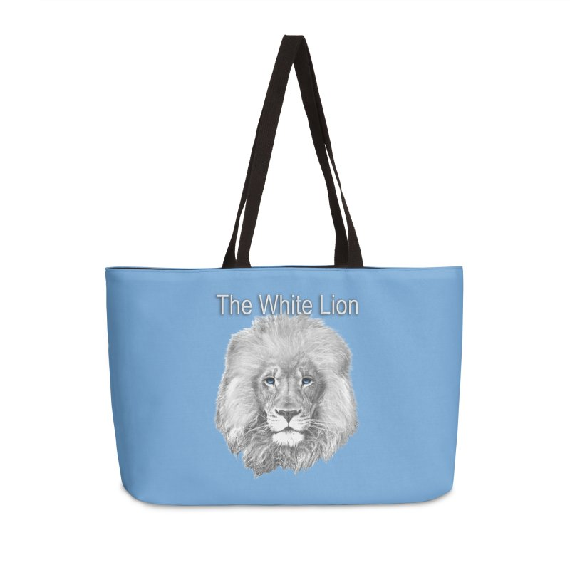 The White Lion Accessories Weekender Bag Bag by NadineMay Artist Shop