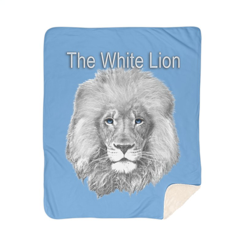 The White Lion Home Sherpa Blanket Blanket by NadineMay Artist Shop