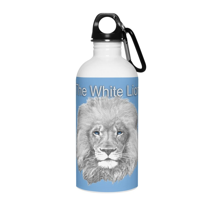 The White Lion Accessories Water Bottle by NadineMay Artist Shop
